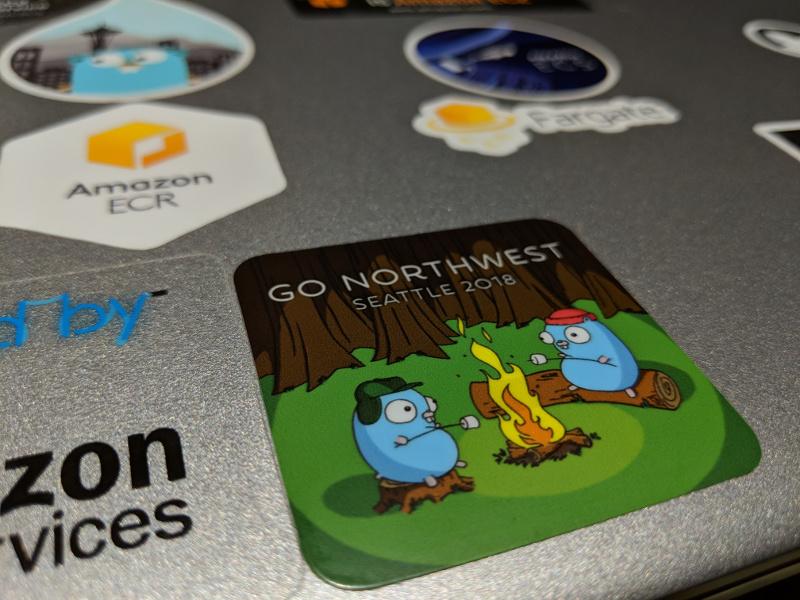 Go Northwest sticker on a laptop.